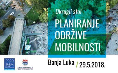 """Okrugli sto """"Planiranje održive mobilnosti"""" – 29.5.2018. – Program i prijava"""